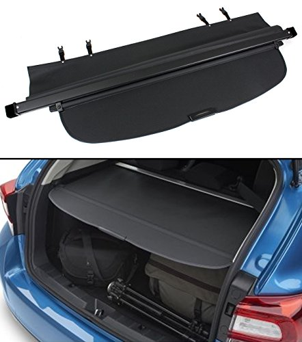 Cuztom Tuning For 2015-2018 Subaru Outback Trunk Tailgate Retractable Cargo Cover Luggage Shade-Black