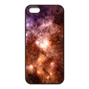 DANGDANG Space Nebula Shell Phone for iphone5s Black Cover Phone Case [Pattern-5]