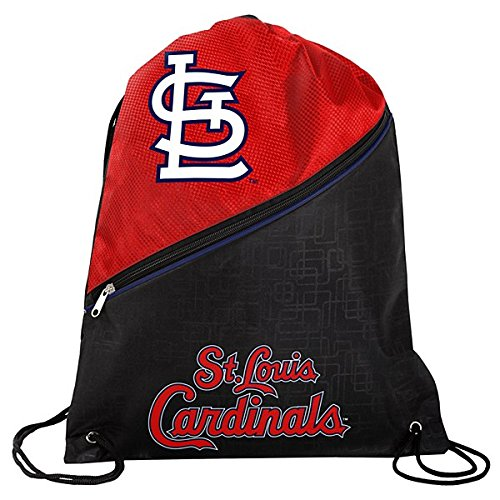 Louis Cardinals Bean Bag - FOCO St. Louis Cardinals High End Diagonal Zipper Drawstring Backpack
