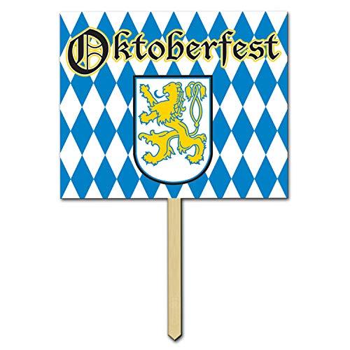 Beistle 57482 Oktoberfest Yard Sign, 12 by 15-Inch