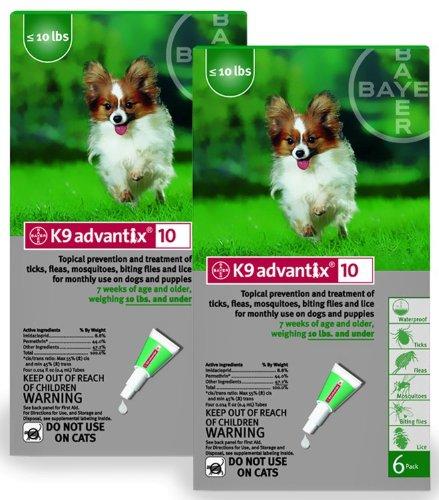 12 MONTH K 9 ADVANTIX Green (for dogs up to 10lbs.) by K-9 Advantix