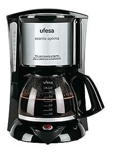 Ufesa CG7232 - Cafetera de goteo, 800 W, capacidad de 10 tazas grandes, color negro y gris