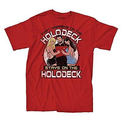 Star Trek Next Generation Commander Riker Holodeck Mens T-shirt Red