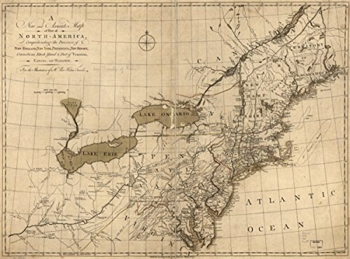 Map: 1771 A new and accurate of part of North-America, comprehending the provinces of New England, New York, Pensilvania, New Jersey, Connecticut, Rhode Island & part of Virginia, Canada and Hallifax,