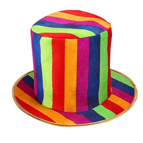 PANDA SUPERSTORE Clown Hat Clown Cap Clown Top Hat Party Costume Carnival Cap Halloween -