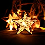 Image of Decorations Stars String Lights | Indoor Iron Art Decors | 10 LEDs 5.5ft | SILVIN