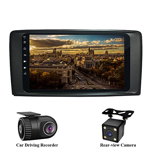 XISEDO Android 7.1 Car Stereo 9 Inch Autoradio RAM 2G Head Unit Car Radio GPS Navigation with Touch Screen for Mercedes-Benz R-W251/ R280/ R300/ R320/ R350/ R500 (with Rear-view Camera and DVR) (R300 Gps)