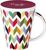 French Bull 16 oz. V Mug  - Porcelain Mug - Coffee, Car, Lid, Tea - Ziggy