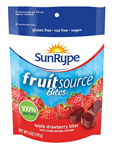 FruitSource Bites Gluten Free 100% Fruit Snack (Case of 12 Packages)