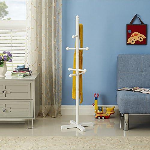 XRXY ソリッドウッド/子供フロアリングコートラック/モダンなベッドルーム衣類ラック/ストレージラック ( 色 : 白 )