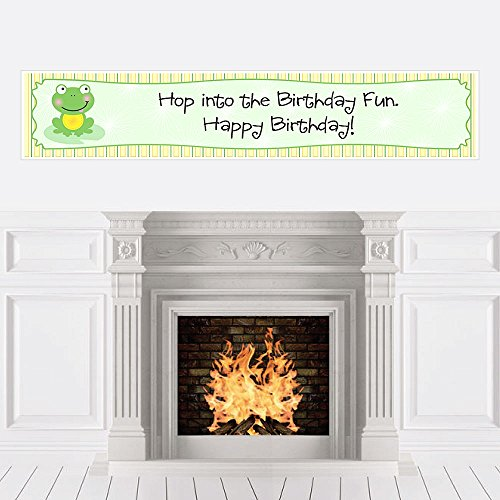 Big Dot of Happiness Froggy Frog - Birthday Party Decorations Party Banner