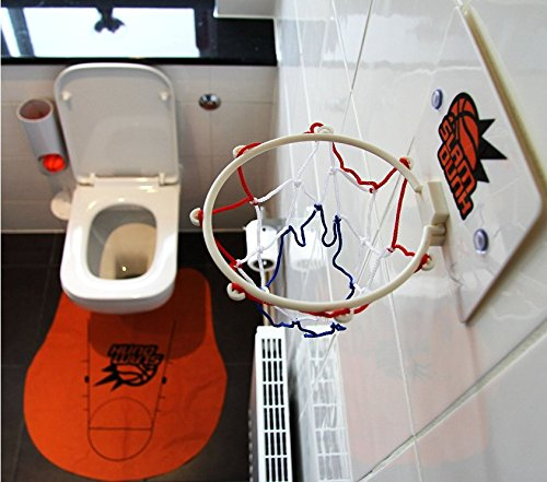 Primi Novel creative Funny Slam Dunk Toilet mini basket giocattolo