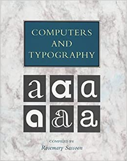 Book Computers and Typography: v. 1