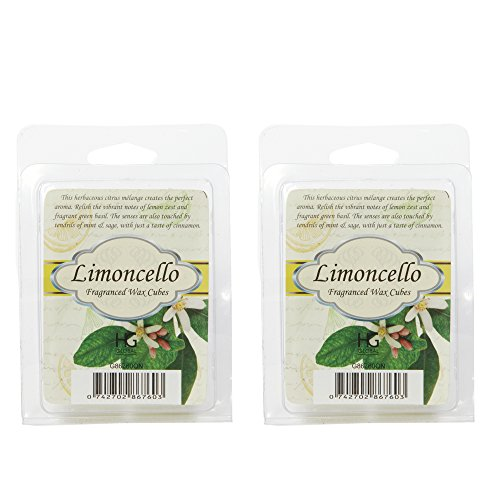 Hosley's Set of 2 Limoncello Scented Wax Cubes / Melts - 2.5