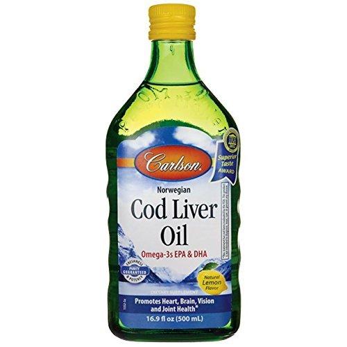 Carlson Norwegian Cod Liver Oil  Lemon 500 Ml