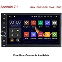 Standard Double 2 Din Android 7.1 In Dash Car Stereo Radio GPS Navigation Support 4G WIFI Bluetooth Mirrorlink with Rear Camera