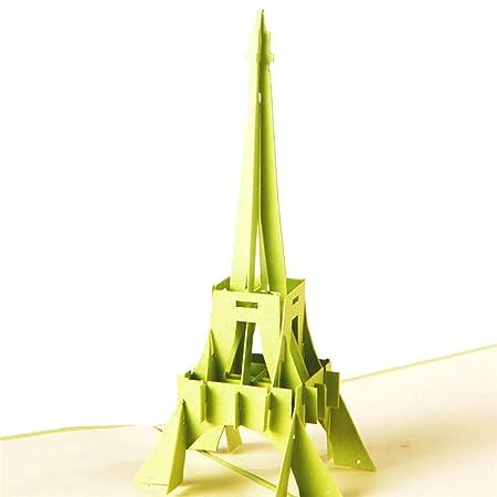 Caolator Tarjeta De Invitación 3d De La Torre Eiffel Para