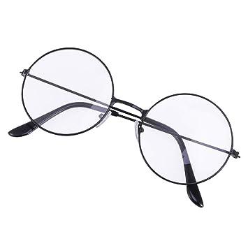 d3b3329ca1d7f Tinksky Cosplay unisexe lunettes cadre rétro lunettes clairement objectif ( noir)