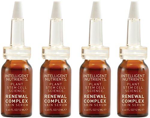 Intelligent Nutrients Renewal Complex Skin Serum - Powerful & Active Plant Stem Cell Serum for All Skin Types (4 Vials)