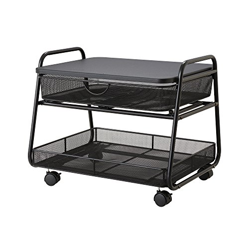 Safco Products 5208BL Onyx Under-Desk Mobile Machine Stand