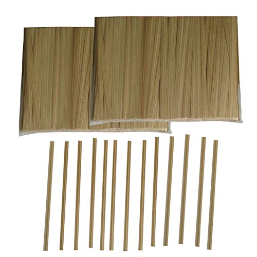 Aspire Wholesale Paper Kraft Twist Ties for Cello Bags, Pack of 1000 - 8 inch,20 Packs by Aspire