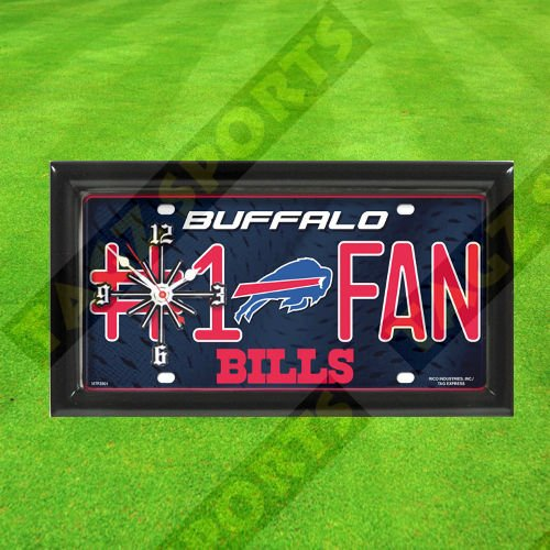 BUFFALO BILLS WALL CLOCK - BY TAGZ - Bills Clock Buffalo