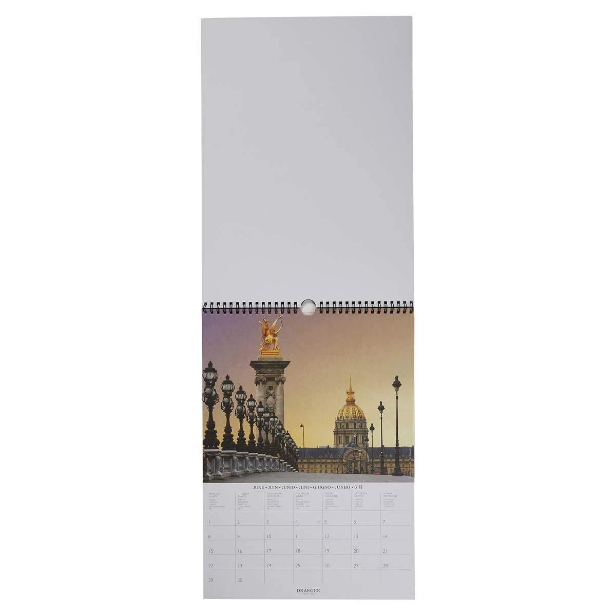 Grille Mensuelle Draeger Calendrier Mural D/éco Monde 2020 Encre V/ég/étale Certifi/é FSC Mixte Calendrier 2020 Mural D/éco Grand Format 29x39cm 7 Langues