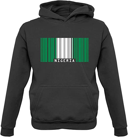 Childrens//Kids Pullover Hoodie Dressdown Kenya Grunge Style Flag