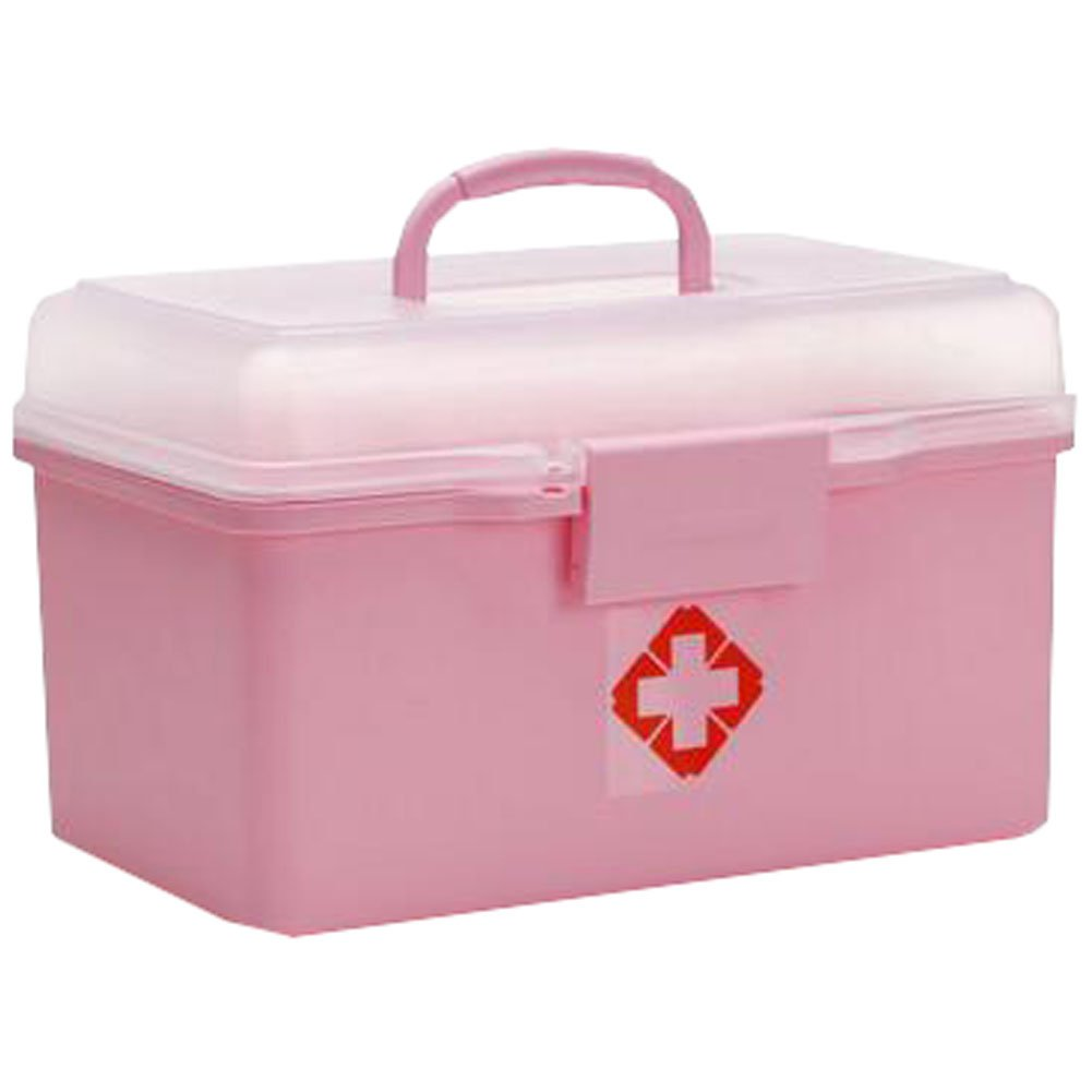 Portable Household First-Aid Kit/Medicine Storage Box Pill Organizer Pink
