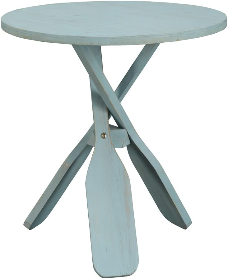 Coast To Coast Imports Accent Table in Breakers Blue Rub Finish