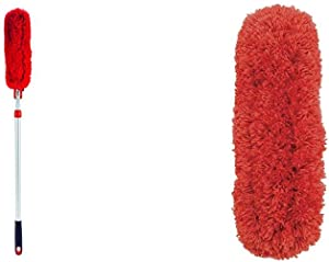 OXO Good Grips Microfiber Extendable Duster with OXO Good Grips Microfiber Duster Refill
