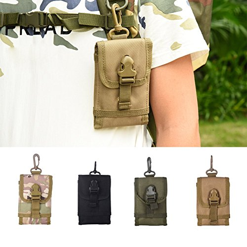 Bunita Portable Small Tactical Bag Mobile Phone Hook Cover Pouch Case New Convenient Outdoor Tool Klein Tool Pouch  Cp Camouflage