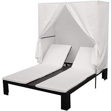 Personne Longue Extérieure Confortable Sunbed Daonanba Chaise Noir 4 7bY6fyvg