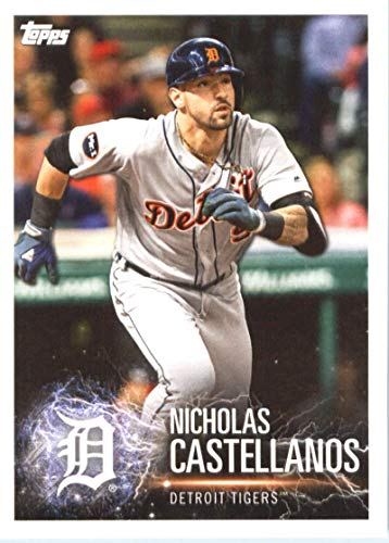 2019 Topps MLB Stickers Baseball #35 Nicholas Castellanos/Giancarlo Staton Detroit Tigers/New York Yankees Trading Card Sized Album Sticker with Collectible Card ()
