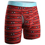 2UNDR Men's Swingshift Boxers,Salmon Run,Medium