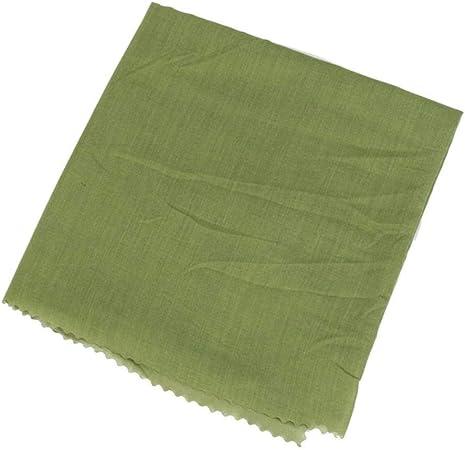 ASD - Pañuelo para la cabeza de las mujeres de algodón cuadrado verde Verde: Amazon.es: Hogar