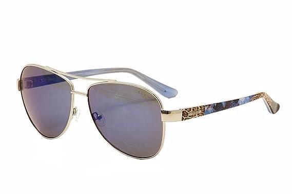 92e532fb36 Amazon.com  GUESS Women s Metal Aviator Sunglasses 10X 60 mm  Clothing