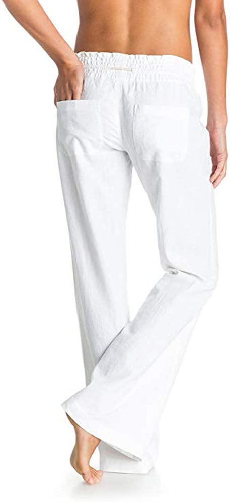 Womens Soft and Breathable Oceanside Pant Wide Leg Cotton Casual Drawstring Pants.