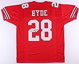 Carlos Hyde Signed Jersey (JSA COA) 49ers autograph