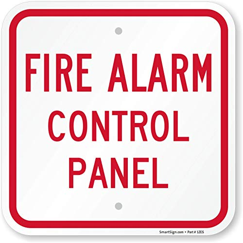 "SmartSign ""Fire Alarm Control Panel"" Sign | 12"" x 12"" Aluminum"