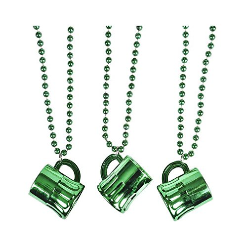 Metallic Green Beer Mug Beads (With Sticky Notes)