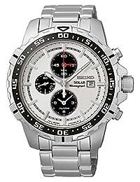 Seiko Men's SSC297P1 Solar White Watch