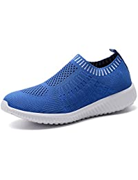 Women's Lightweight Casual Walking Athletic Shoes Breathable Mesh Running Slip-On Sneakers