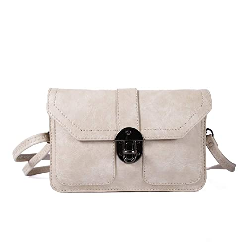 7d2df9c407b9 TENXITER Womens Leather Small Crossbody Bags Cell Phone Wallet Purse Bag  for Women (Beige)