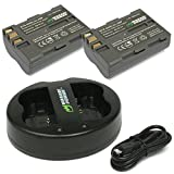 Wasabi Power Battery (2-Pack) and Dual USB Charger for Nikon EN-EL3e and Nikon D50, D70, D70s, D80, D90, D100, D200, D300, D300S, D700