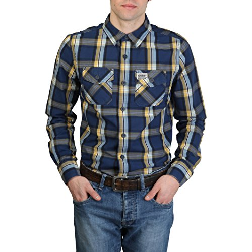 SUPERDRY - Chemises Superdry Bleu Homme - MS4HE355F1_NAVY_YELLOW - S