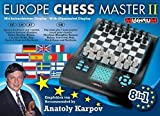 Millennium Europe Chess Master II, Model M800 – Chess, Checkers, Othello / Reversi, Halma, 4 in a Row, Nim, Fox & Geese, and Northcote's game Electronic Computer Board Set