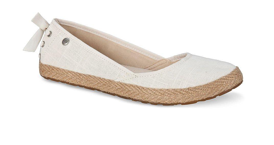 6fa4246f55f UGG Australia Women's Fabric Indah Women's Flat Pump Shoes White (7.5)