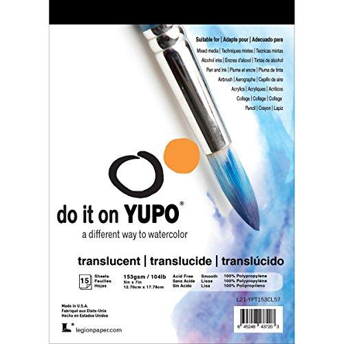 Yupo Paper 5x7 10 Sheets/Pkg-Translucent 104lb