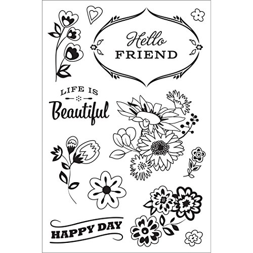 Basic Grey Vivienne Clear Stamps By Hero Arts-Good Day